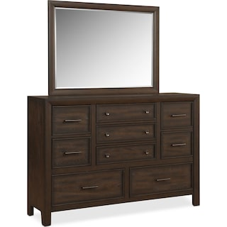 Hampton Dresser and Mirror - Cocoa