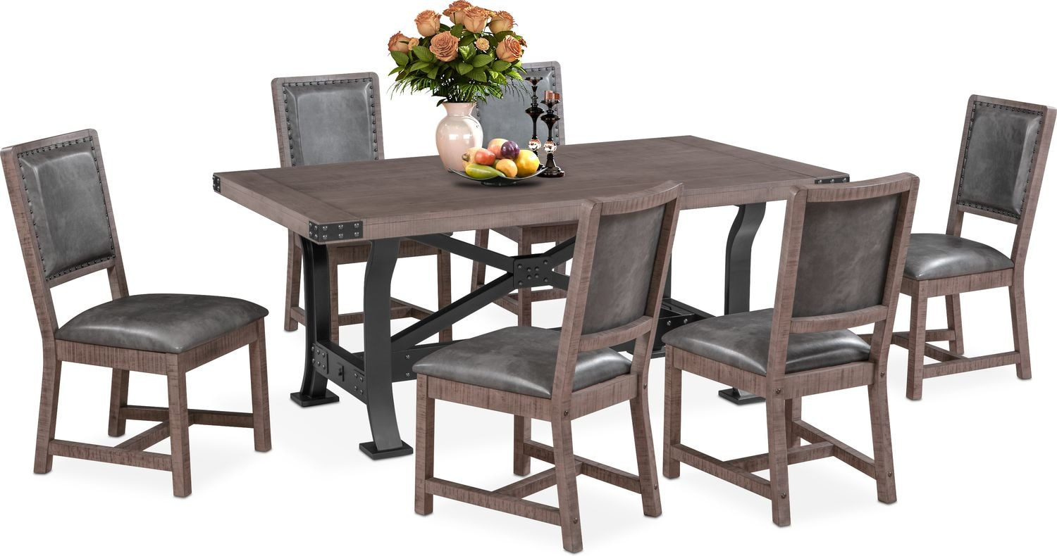 Dining Room Furniture - Newcastle Dining Table and 6 Side Chairs