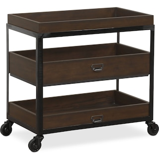 Hampton Open Metal Nightstand - Cocoa