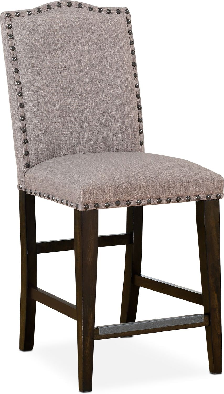Hampton Counter Height Upholstered Stool Cocoa