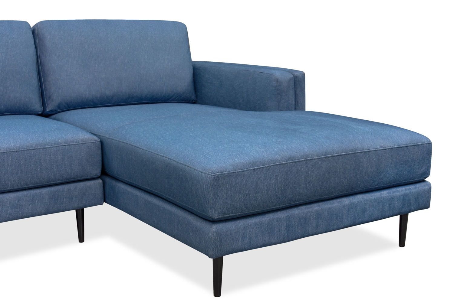 West end 2 piece sectional with right facing chaise blue for Blue sectional sofa with chaise