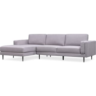 West End 2-Piece Sectional with Left-Facing Chaise - Light Gray