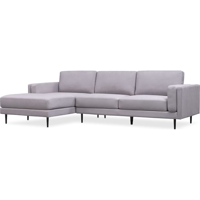 Amazing West End 2 Piece Sectional With Chaise Cjindustries Chair Design For Home Cjindustriesco