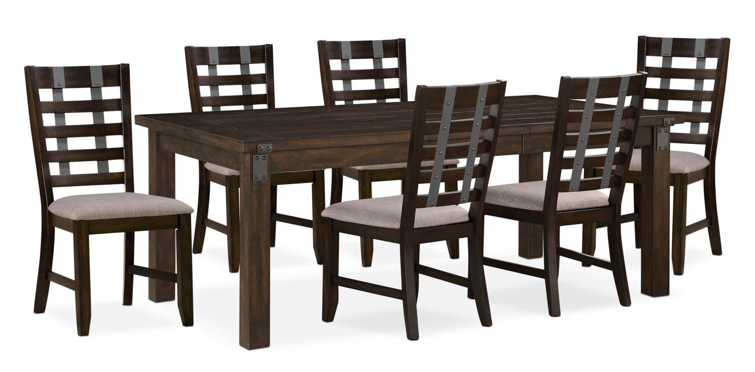 Dining Room Furniture   Hampton Dining Table And 6 Side Chairs   Cocoa