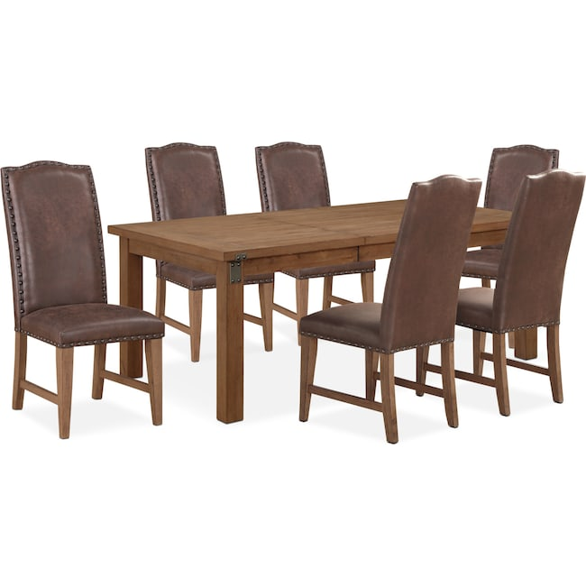 Dining Room Furniture - Hampton Dining Table and 6 Upholstered Side Chairs