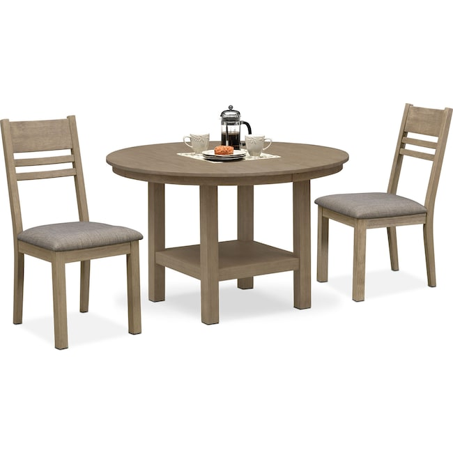 Dining Room Furniture - Tribeca Round Dining Table and 2 Dining Chairs