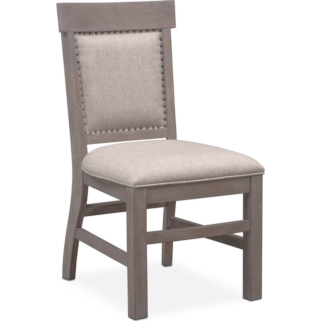 Dining Room Furniture - Charthouse Upholstered Side Chair - Gray