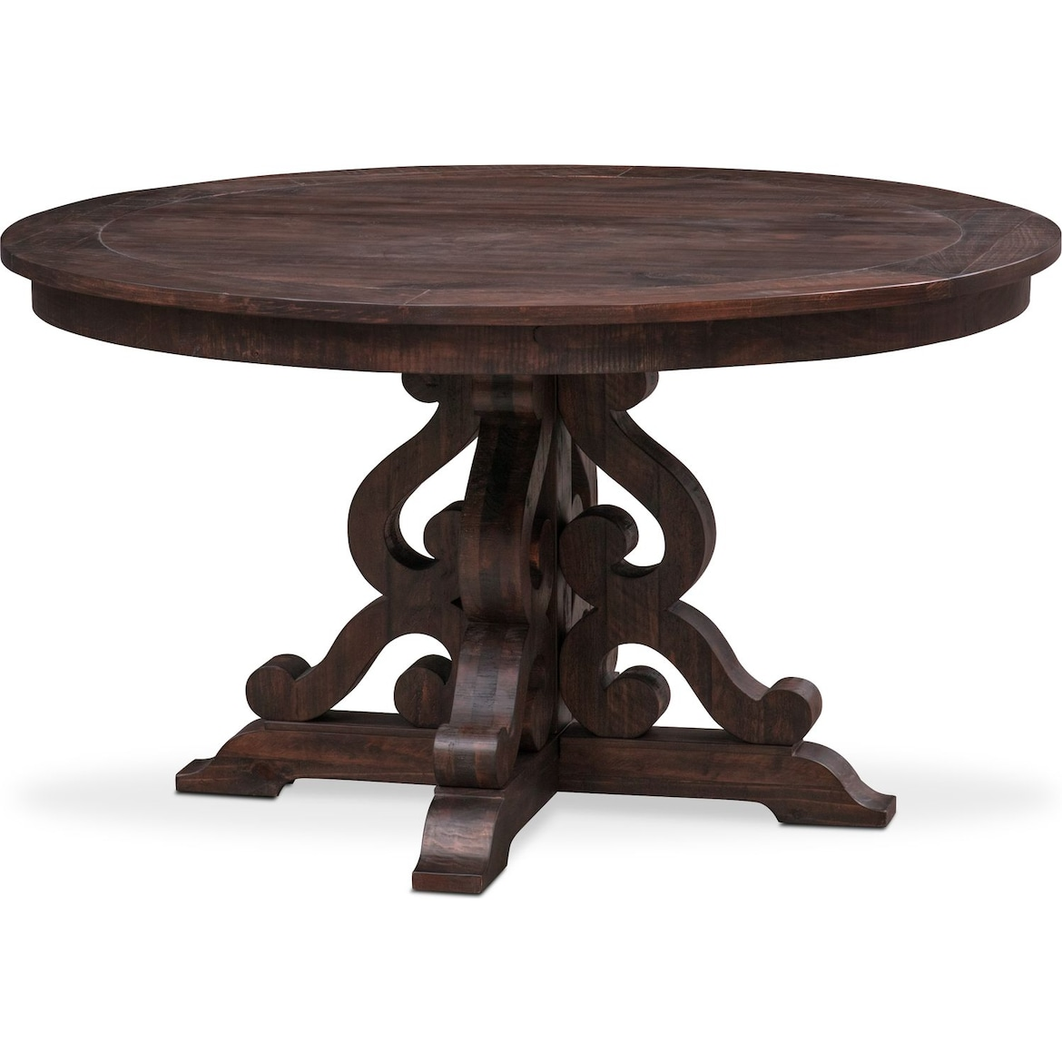 Charthouse Round Dining Table And 4 Upholstered Side