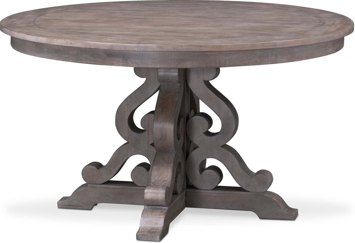 Charthouse round dining table gray