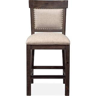 Charthouse Counter-Height Upholstered Stool - Charcoal