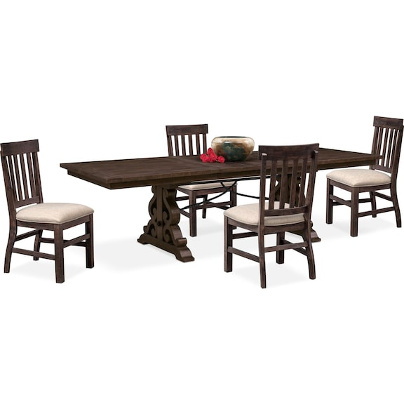 1 399 95 Charthouse Rectangular Dining Table And 4 Side Chairs Charcoal