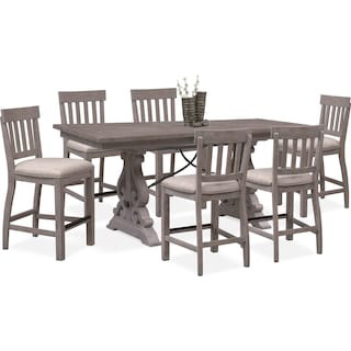 Dining Room Dinettes I American Signature American Signature Furniture - Wooden dining room table with 6 chairs
