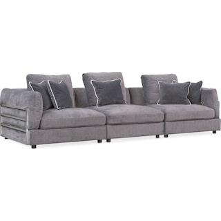 Lavo 3-Piece Sectional - Gunmetal