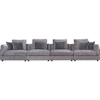 Lavo 4-Piece Sectional - Gunmetal