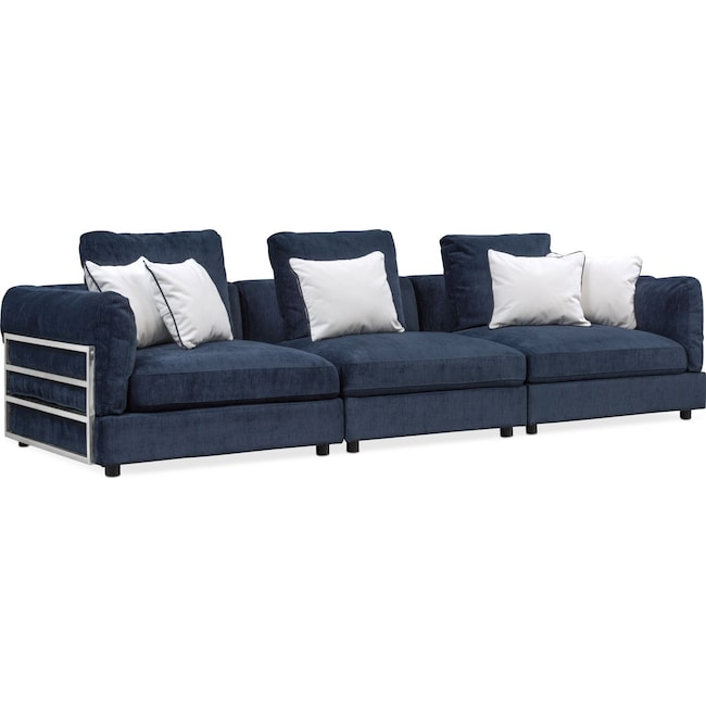 Living Room Furniture - Lavo 3-Piece Sectional - Ink