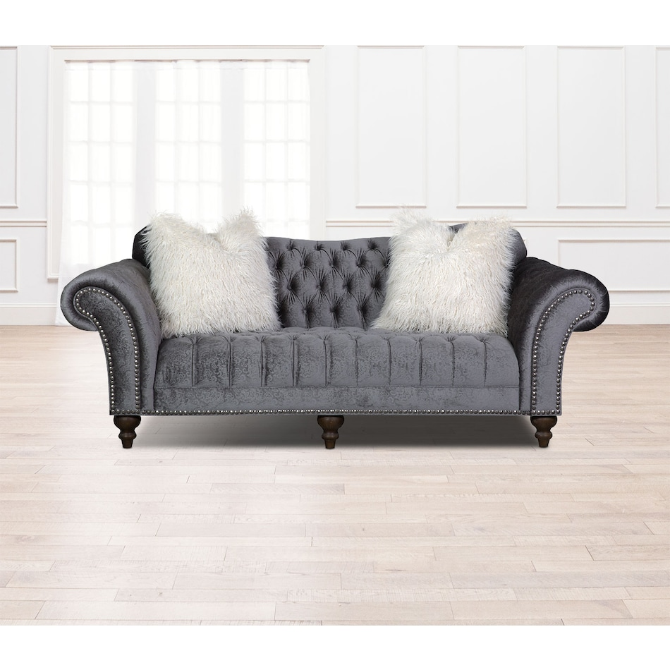 The Brittney Living Room Collection - Charcoal | American Signature ...