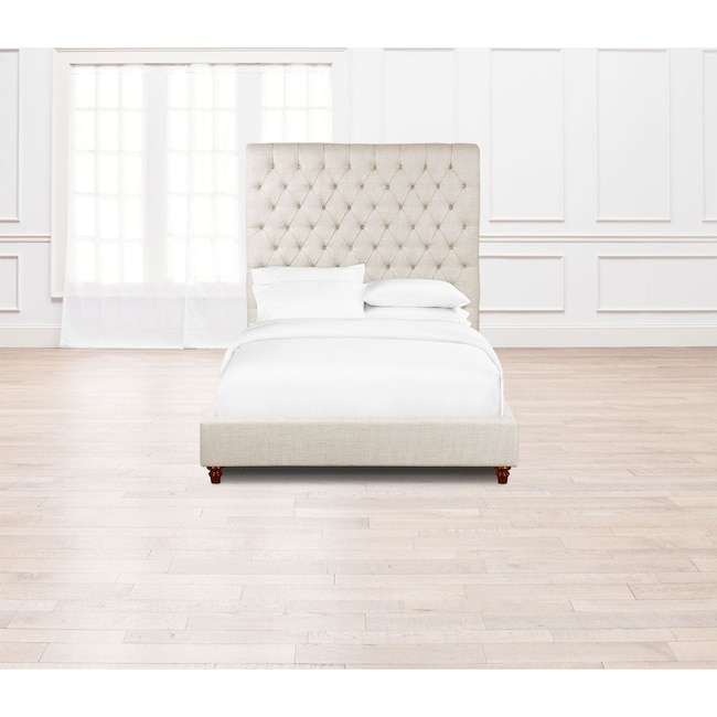Diana Queen Upholstered Bed Natural American Signature