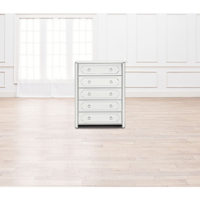Bedroom Furniture - Harlow Chest - Mirrored