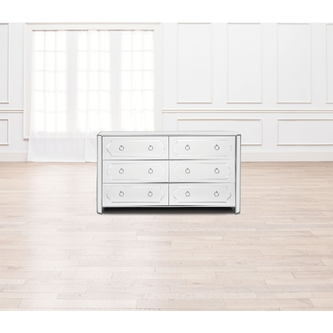Bedroom Furniture - Harlow Dresser - Mirrored