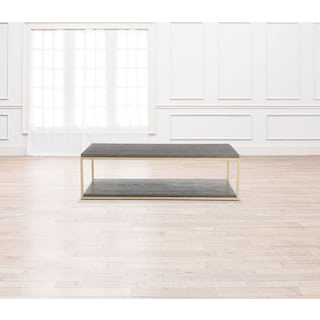 Malibu Rectangular Metal Cocktail Table - Umber