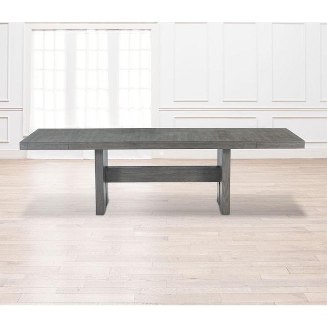 Dining Room Furniture - Malibu Rectangular Wood Top Table - Gray