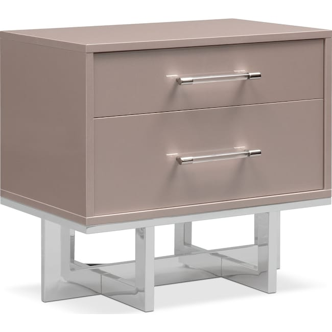 Bedroom Furniture - Concerto Nightstand - Champagne