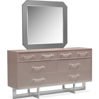 Concerto Dresser and Mirror - Champagne