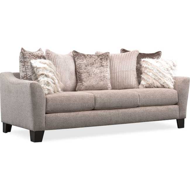 Living Room Furniture - Allure Sofa - Beige