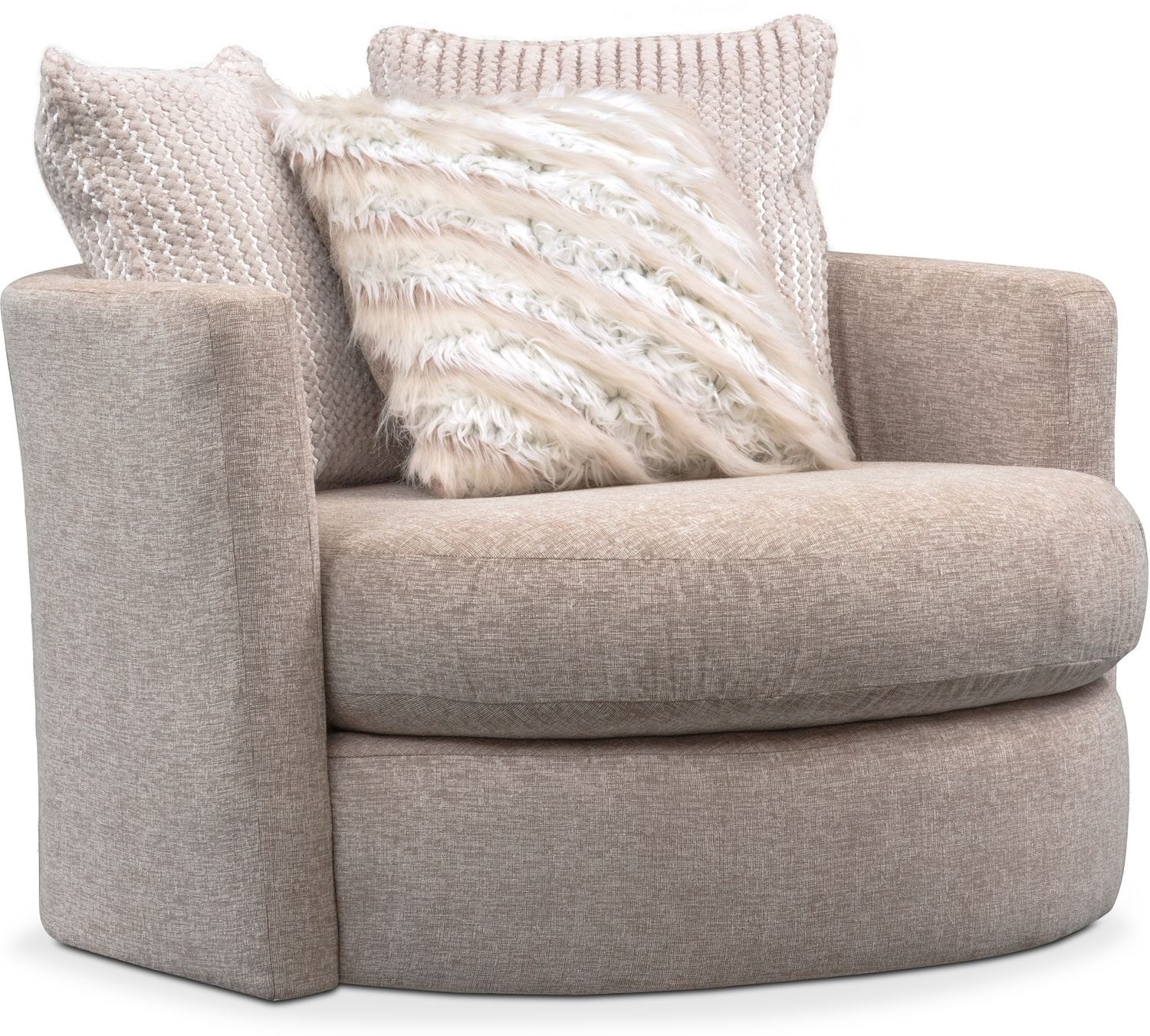 marvellous living room swivel chairs | Allure Swivel Chair - Beige | American Signature Furniture