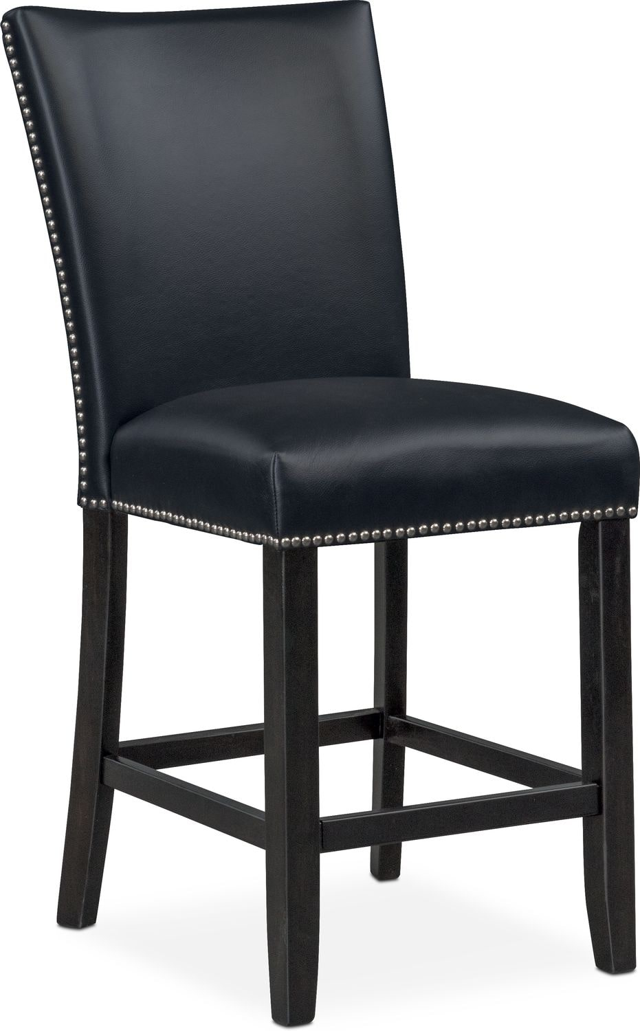 Charmant Dining Room Furniture   Artemis Counter Height Upholstered Stool   Black