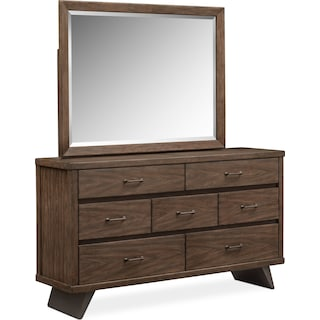 Axis Dresser and Mirror - Whiskey