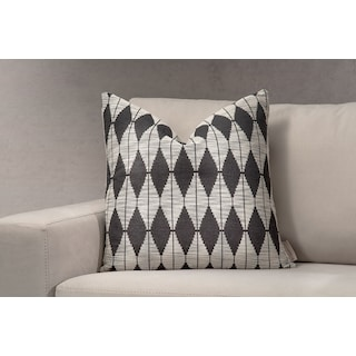 Tribal Decorative Pillow - Black and Cream