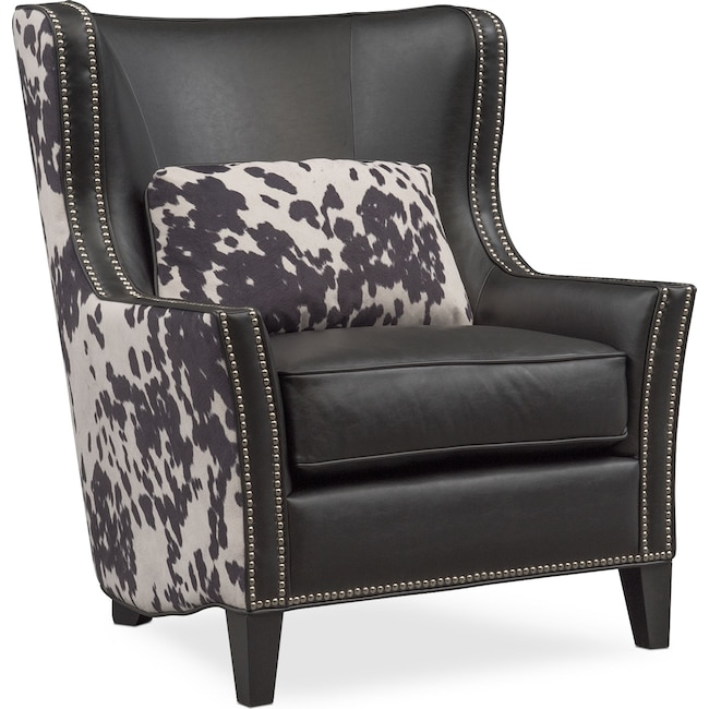 Living Room Furniture - Santa Fe Accent Chair - Cowhide