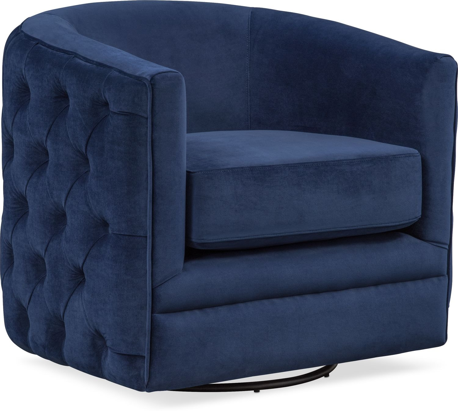 Click to change image. & Chloe Swivel Chair - Blue | American Signature Furniture