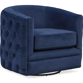 Chloe Swivel Chair - Blue