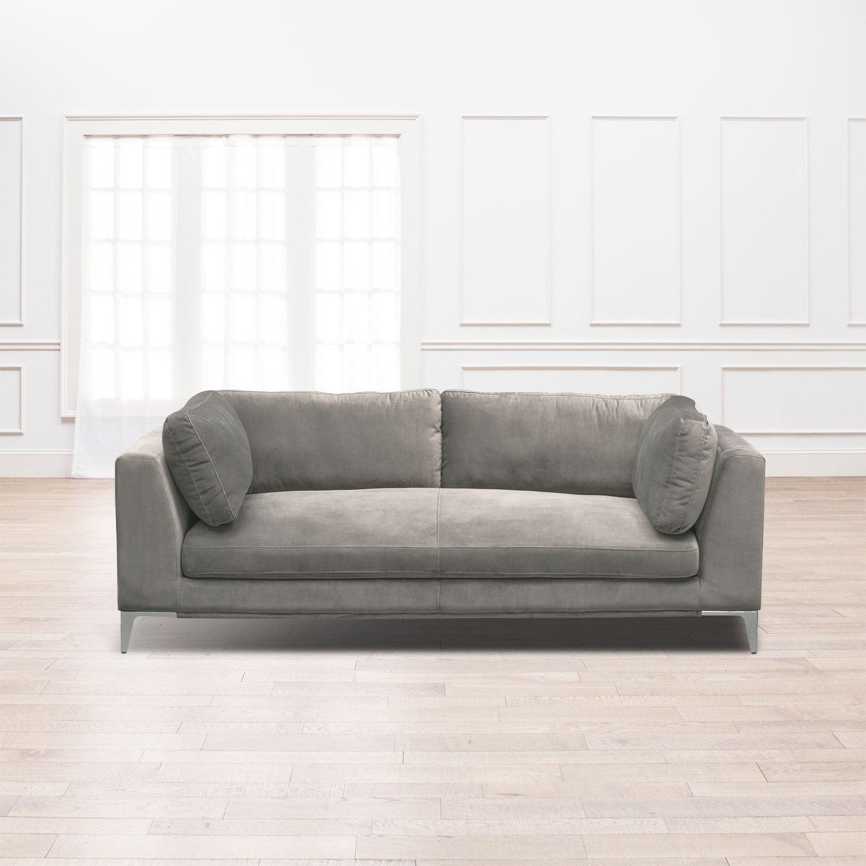 Living Room Furniture   Aaron Sofa   Flannel