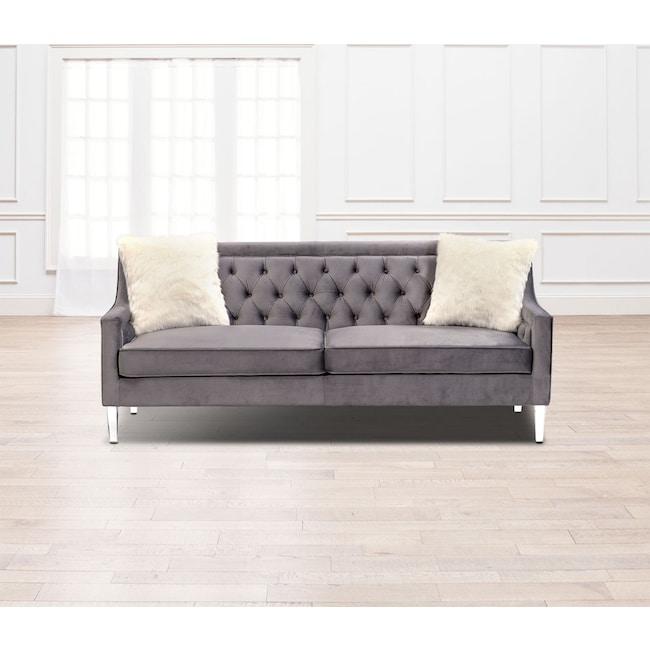 Living Room Furniture - Chloe Sofa - Gunmetal