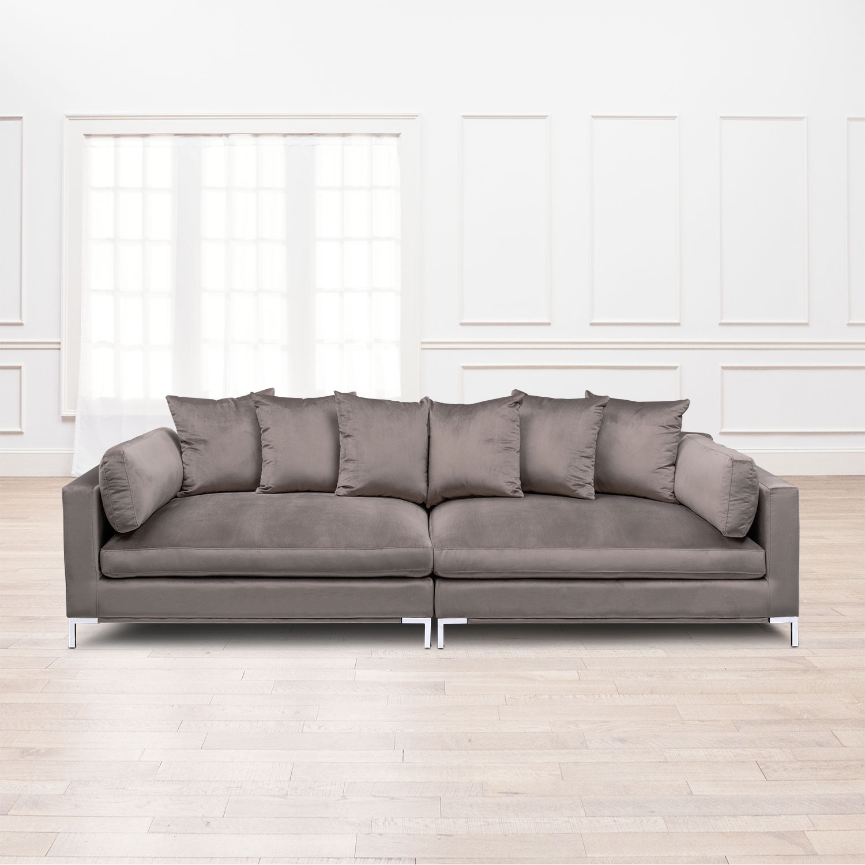 Living Room Furniture   Moda 2 Piece Sofa   Oyster