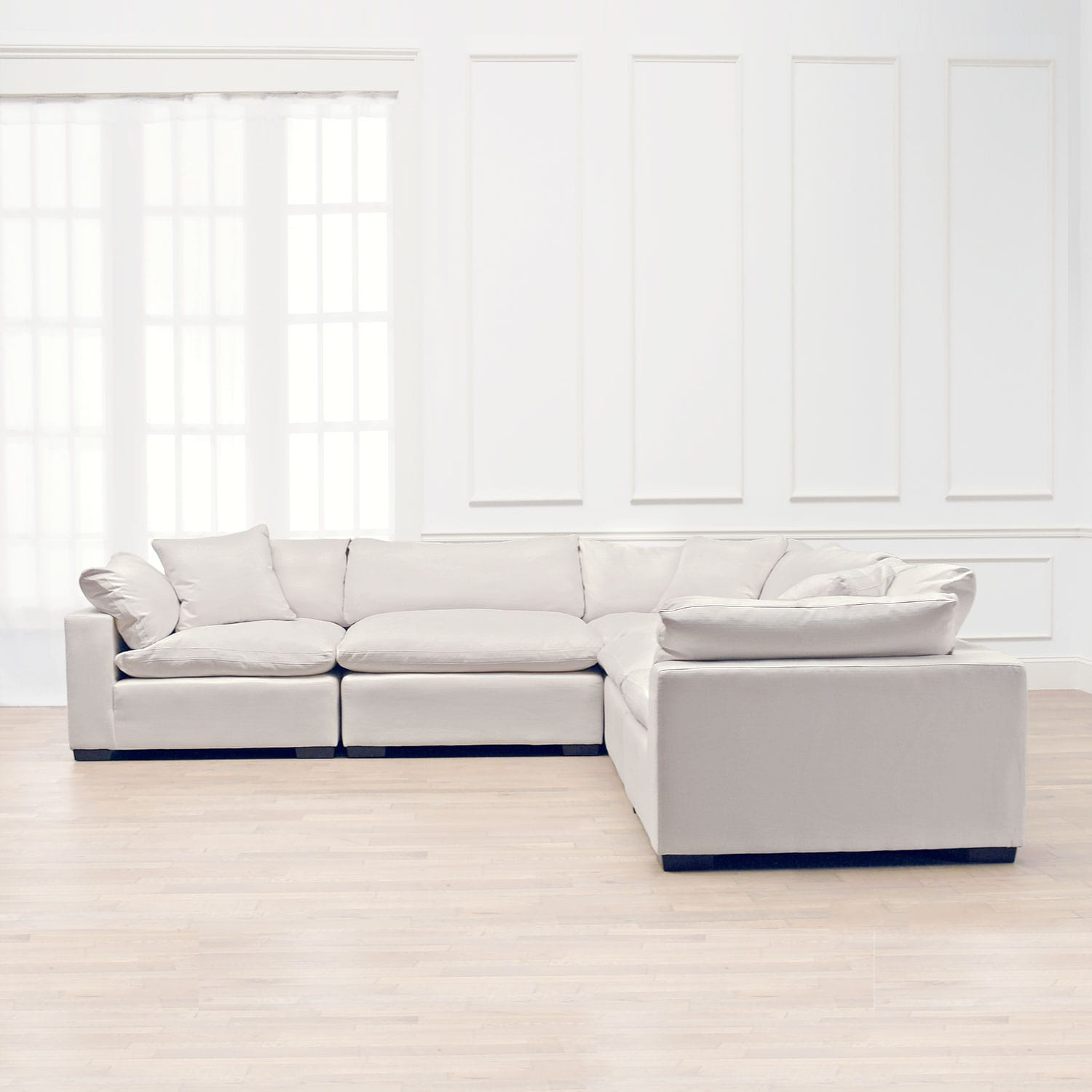 Plush 5-Piece Sectional - Anders Ivory | American Signature Furniture