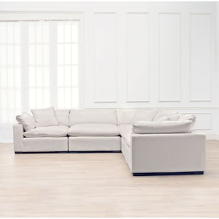 Plush 5-Piece Sectional - Anders Ivory