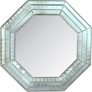Triple Mosaic Octagonal Mirror - Silver