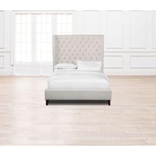 Mandarin Queen Upholstered Bed - Ivory