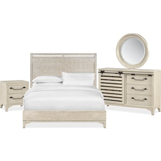 Gristmill 6-Piece King Bedroom Set - Linen