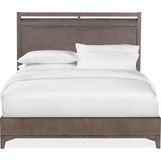 Gristmill Queen Bed - Gray