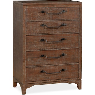 Gristmill 5-Drawer Chest - Cocoa