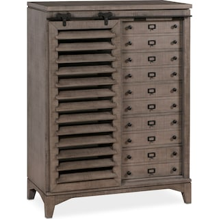 Gristmill Sliding Door Chest - Gray