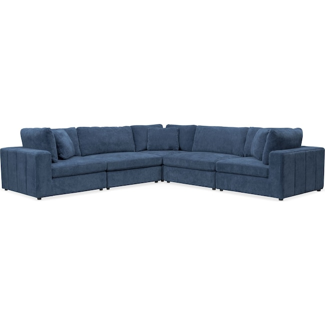 Living Room Furniture - Chill 5-Piece Sectional - Sapphire
