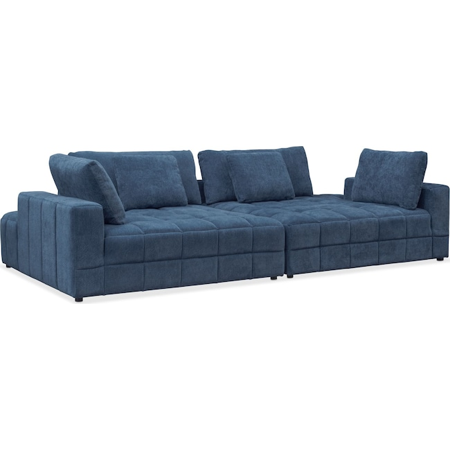 Living Room Furniture - Chill 2-Piece Chaise Sectional - Sapphire