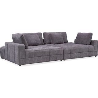 Chill 2-Piece Chaise Sectional - Gray