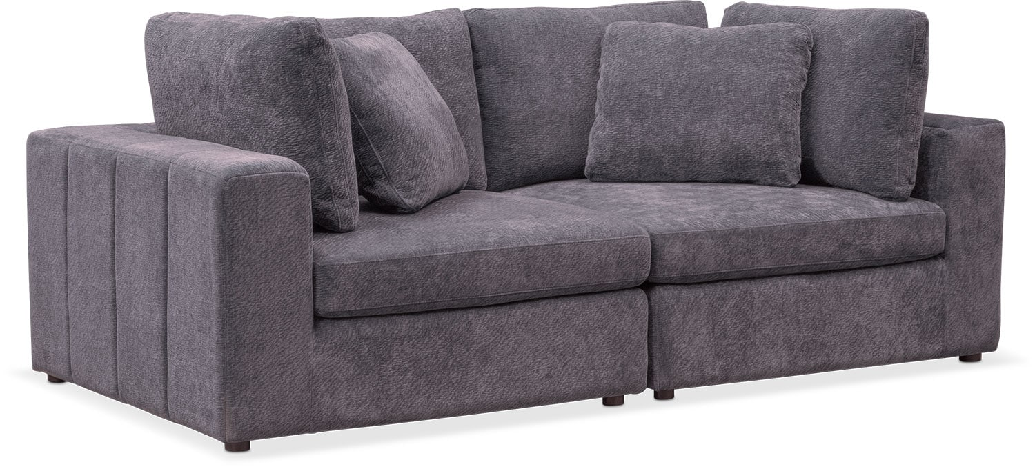 Nice Chill 2 Piece Sofa   Gray Good Ideas